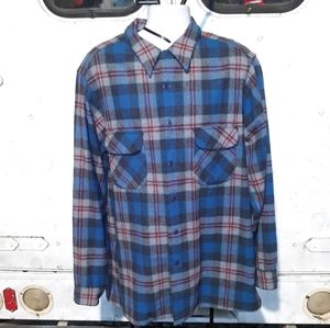 Vgt Pendleton loop collar wool Flannel 2XL TALL